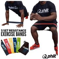 Q-Phiit - Resistance Bands - Set of 5 & Carry Case Bag