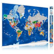 Scratch off Map of the World - Large Wall Poster