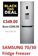 SAVE £200. SAMSUNG 70/30 Fridge Freezer - Silver