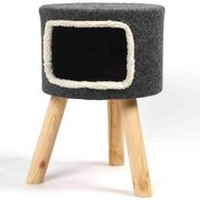 Purrshire Felt Cat Stool House - 53cm Height Only £9.74