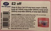 Soap and Glory Extra £2 off Items (And 3 for 2) at Boots