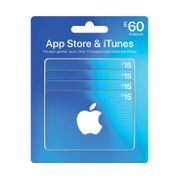 iTunes Vouchers 4 X £15 for £49.49 at Costco