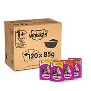 Whiskas 1+ Casserole Wet Cat Food Poultry Selection 120 X 85 G (Poss £12.02)