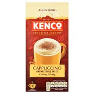 HALF PRICE Kenco Cappuccino Unsweetened Coffee 8 Sachets