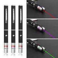 Laser Light Pointer Pen 3 Pieces Green Purple Red