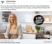 £10 New Member Bonus at Topcashback