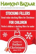 Hawkins Bazaar BRILLIANT for STOCKING FILLERS! Don't Miss the CLEARANCE SECTION!