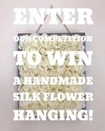 Win a HANDMADE SILK FLOWER HANGING!