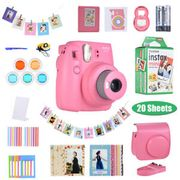Fujifilm Instax Mini 9 Instant Camera+Battery+Accessories Kit+20Photo Paper Film