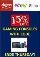 15% off Gaming Consoles at Argos eBay Shop - ENDS THURSDAY
