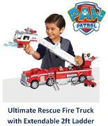 PAW Patrol Ultimate Rescue Fire Truck with Extendable 2ft Ladder