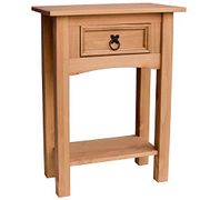 Home Discount Corona 1 Drawer Pine Console Table with Shelf