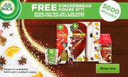 Free Gingerbread House Kit When You Buy 2 Air Wick Product