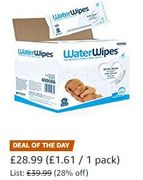 THURSDAY DEAL SAVE £11. WaterWipes Baby Wipes Sensitive Skin, 1080 Wipes