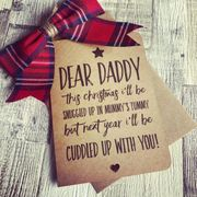 Handmade Christmas Daddy to Be from Bump Card