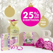 25% off SITEWIDE, plus FREE P&P on Orders over £15