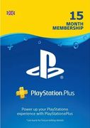 15 Month Playstation plus (PS+) UK -