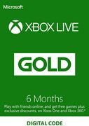 6 Month Xbox Live Gold Membership (Xbox One/360) -