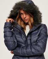 Chevron Faux Fur Super Fuji Jacket