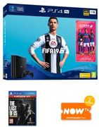 Playstation PS4 Pro 1TB Console + FIFA19 + The Last of Us + Now TV (2months)