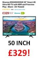 CHEAP PRICE 50 INCH Hisense H50AE6100UK Smart 4K Ultra HD TV