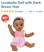 SAVE £30. Luvabella Doll with Dark Brown Hair £69.99 with FREE DELIVERY