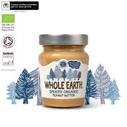Whole Earth Peanut Butter - Smooth Organic 6 X 227G