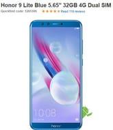 """Honor 9 Lite Blue 5.65"""" 32GB 4G Dual SIM Unlocked & SIM Free"""