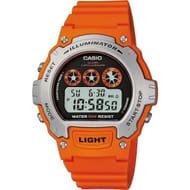 Casio Men's Orange Illuminator LCD Watch