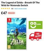 The Legend of Zelda - Breath of the Wild for Nintendo Switch (FREE DELIVERY)