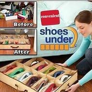 12 Grid Non-Woven Fabric Shoebox Folding Organizer Shoes Storage