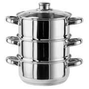 Argos Home 3 Tier Steamer - Stainless Steel CLICK & COLLECT
