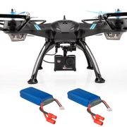 Viper Pro Drone with Electronically Adjustable HD Camera & 2 Batteries