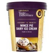 Sainsbury's Mince Pie Ice Cream, Taste the Difference 500ml