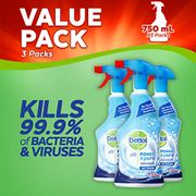 Dettol Power and Pure Advance Bathroom Cleaner, 750 Ml, Pack of 3