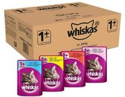Whiskas 1+ Wet Cat Food Mixed Selection in Jelly (84 PACK)