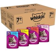 SAVE £6.87. Whiskas 7+ Wet Senior Cat Food - Mixed Selection in Jelly (8 PACK)
