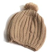Unisex Fashion Casual Solid Knit Bobble Pom Hats Beanie Hat Winter Warm Cap Caps