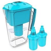 Alkaline Tap Water Filter Jug and 2 Long Life Cartridges Purifiers 2.5L Blue OXA