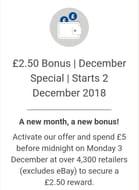Spend £5, Get £2.50 Cashback via Quidco