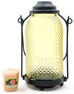 Yankee Candle Yellow Glass Lantern Votive Sampler Holder
