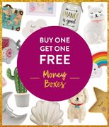MONEY BOXES Buy One Get One Free