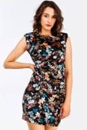 Multicolour Floral Printed Short Dress