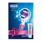 Oral-B - Pink 'Pro' 650 3D White Electric Rechargeable Toothbrush