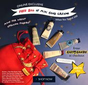 FREE Bag of Mini Hand Creams When You Spend £60 (Worth £22).*