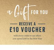 Receive a £10 Voucher When You Spend £60 in the New Year