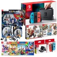Nintendo Neon Red/Blue Switch Mega Bundle