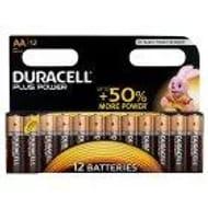Duracell plus Power AA Batteries X12