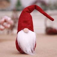 Handmade Santa Cloth Doll Birthday Present for Home Christmas Holiday Decoration