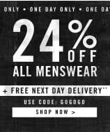 24% off All Menswear